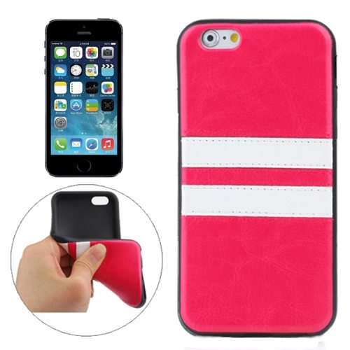 Fashion Design Double Colored Protective TPU Case for iPhone 5 & 5S (Red)