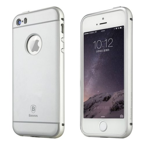 Baseus Series Metal Frame and PC Back Shell Protective Combination Case for iPhone 5 / 5S(Silver)