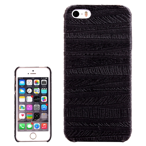 Painting Ripples Texture PU Leather Coated Back Case for iPhone 5 & 5S (Black)