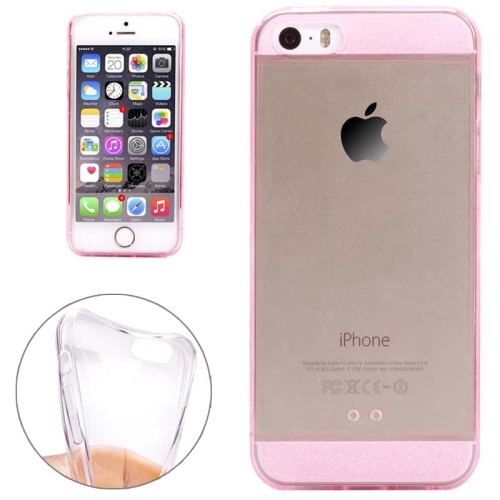 Ultra Thin Transparent Soft TPU Phone Case Cover for iPhone 5/ 5S (Pink)