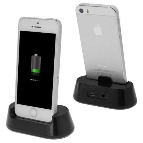 3.5mm Earphone Jack Desktop Cradle Station Dock Charger for iPhone 5