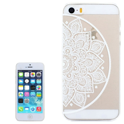 Ultra-Thin Carved Flower Pattern Transparent Frame PC Protective Case for iPhone 5 & 5S (Pattern 2)