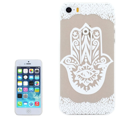 Ultra-Thin Carved Flower Pattern Transparent Frame PC Protective Case for iPhone 5 & 5S (Pattern 3)