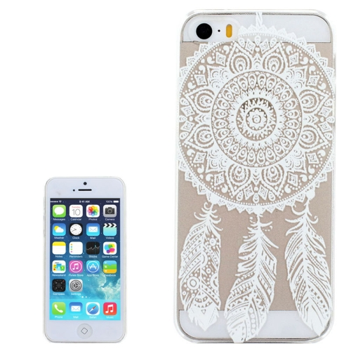 Ultra-Thin Carved Flower Pattern Transparent Frame PC Protective Case for iPhone 5 & 5S (Pattern 6)