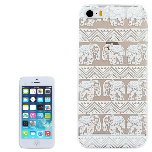 Ultra-Thin Carved Flower Pattern Transparent Frame PC Protective Case for iPhone 5 & 5S (Pattern 7)
