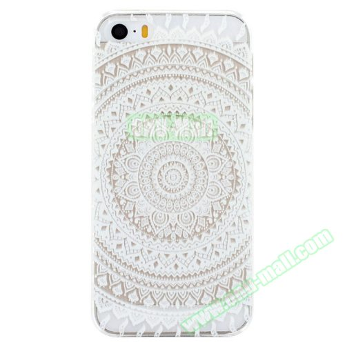 Ultra-Thin Carved Flower Pattern Transparent Frame PC Protective Case for iPhone 5 & 5S (Pattern 10)