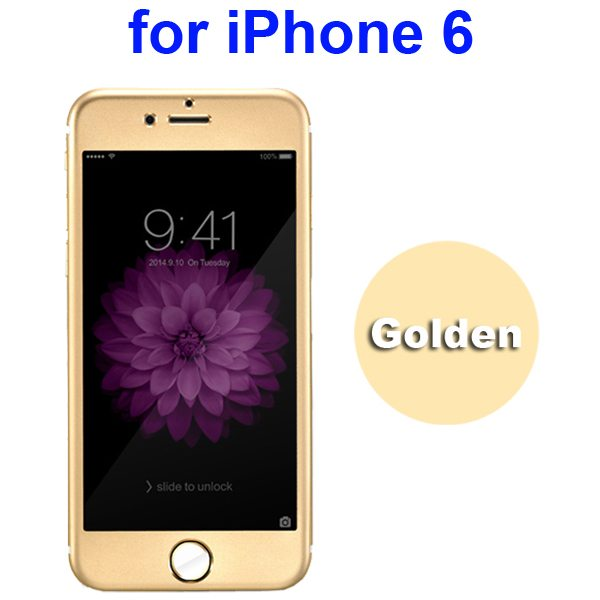 New Arrival Titanium Alloy Tempered Glass Screen Guard for iPhone 6 4.7 inch (Gold)