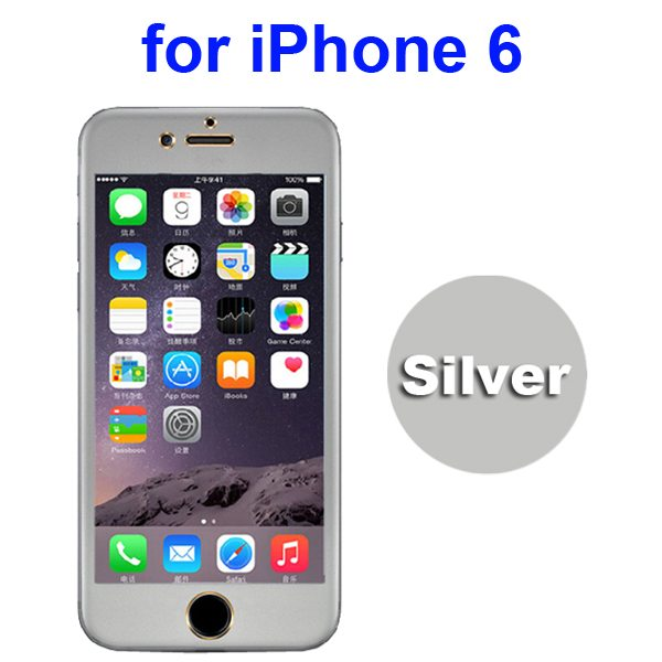 New Arrival Titanium Alloy Tempered Glass Screen Guard for iPhone 6 4.7 inch (Silver)