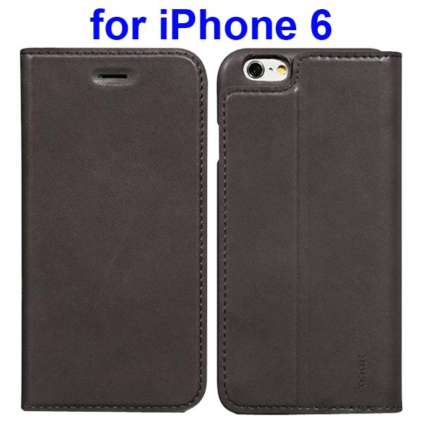 HOCO Luxury Series Suprior Quality Flip Case Leather Cover for iPhone 6 (Gray)