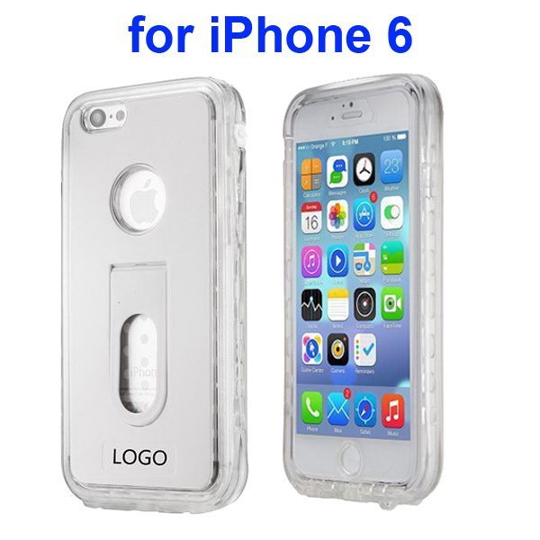 Durable Waterproof Shockproof Protective Cover for iPhone 6 with Fingerprint Identification Function (White)