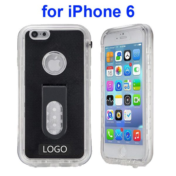 Durable Waterproof Shockproof Protective Cover for iPhone 6 with Fingerprint Identification Function (Black)