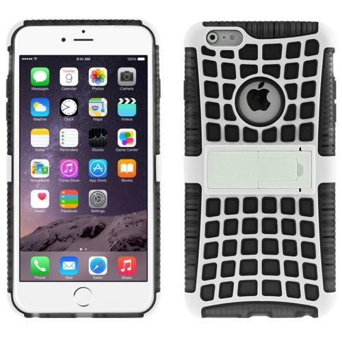 2 in 1 Spider Web Pattern Soft TPU and Hard Shockproof Cover for iPhone 6 with Stand (Black)