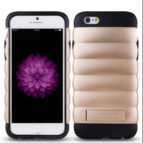 2 in 1 Pattern PC and TPU Armor Protective Heavy Duty Hybrid Case for iPhone 6 with Kickstand