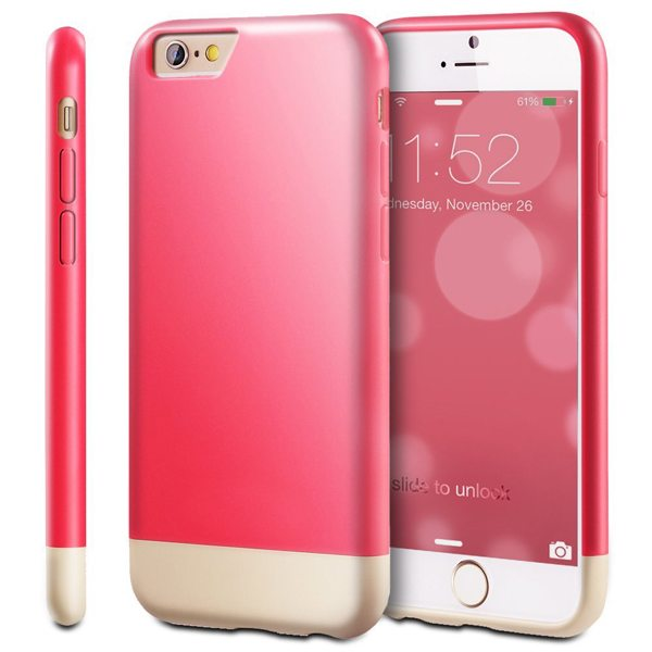 Oil Coated Pattern Detachable Protective Hard Case Cover for iPhone 6 (Red)