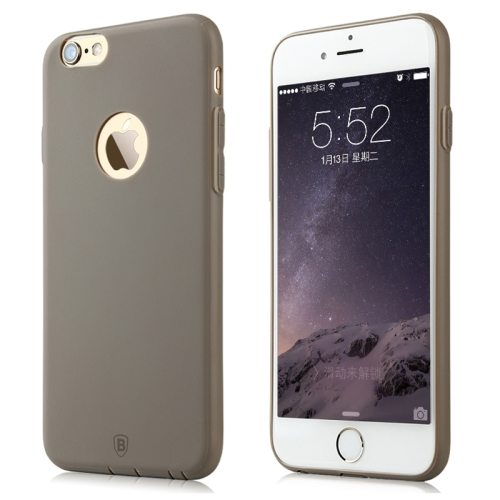 Baseus Misu Series Ultra Thin 1MM Colorful TPU Protective Case for iPhone 6 (Grey)