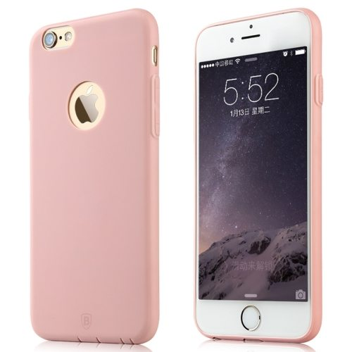 Baseus Misu Series Ultra Thin 1MM Colorful TPU Protective Case for iPhone 6 (Pink)