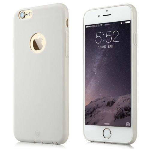 Baseus Misu Series Ultra Thin 1MM Colorful TPU Protective Case for iPhone 6 (White)