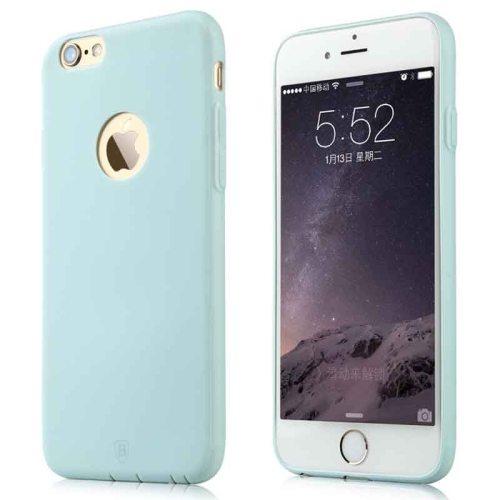 Baseus Misu Series Ultra Thin 1MM Colorful TPU Protective Case for iPhone 6 (Light Blue)