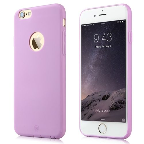 Baseus Misu Series Ultra Thin 1MM Colorful TPU Protective Case for iPhone 6 (Purple)