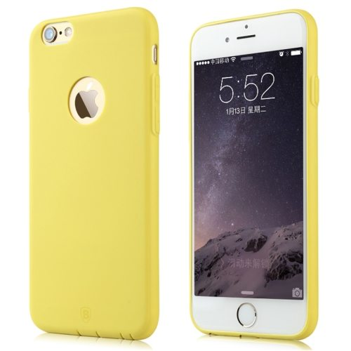Baseus Misu Series Ultra Thin 1MM Colorful TPU Protective Case for iPhone 6 (Yellow)