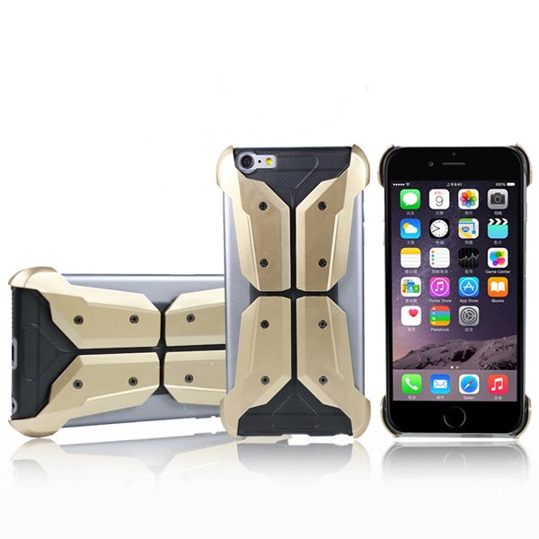 Armoured Style Shockproof Protective Hard Case Cover for iPhone 6 (Golden)
