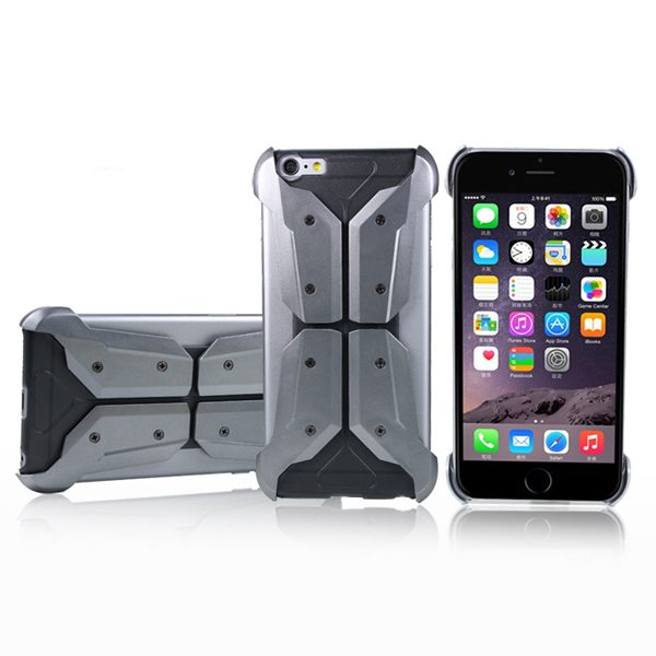 Armoured Style Shockproof Protective Hard Case Cover for iPhone 6 (Grey)