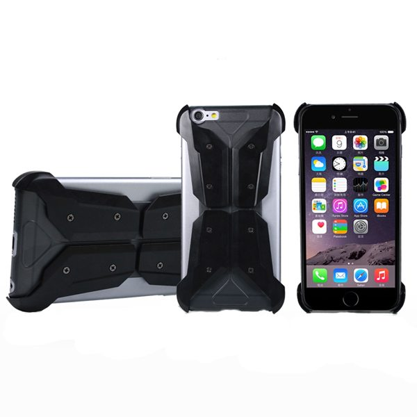 Armoured Style Protective Hard Case Cover for iPhone 6 Plus (Black)