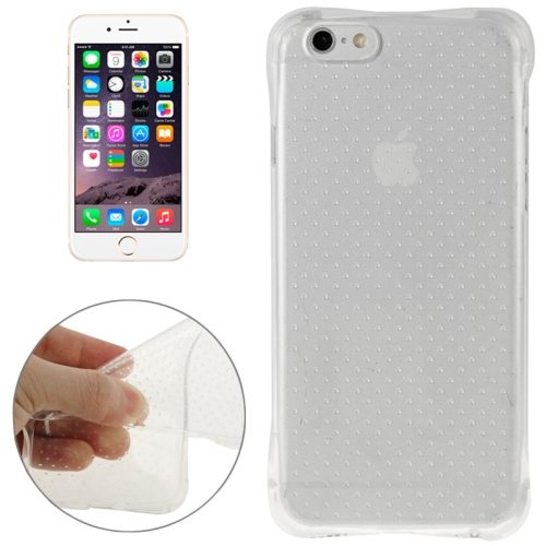 Inside Circle Dot Texture Transparent Soft TPU Protective Case for iPhone 6 (Transparent)