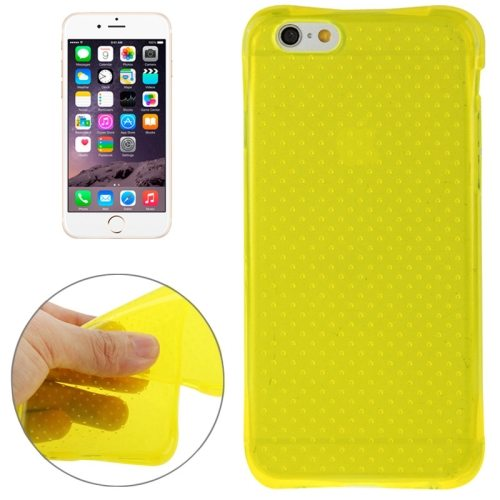 Inside Circle Dot Texture Transparent Soft TPU Protective Case for iPhone 6 (Yellow)