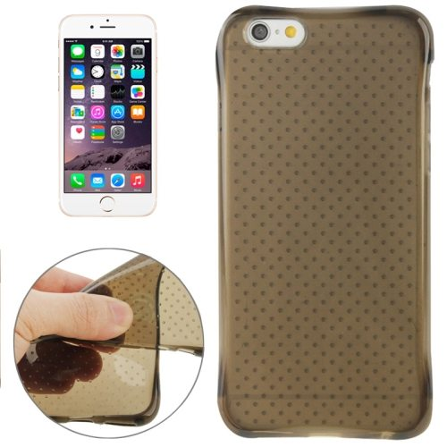 Inside Circle Dot Texture Transparent Soft TPU Protective Case for iPhone 6 (Brown)