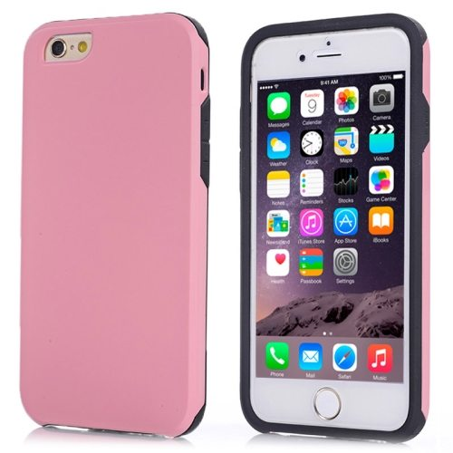 2 in1 Ultrathin TPU and Hard Shockproof Hybrid Case for iPhone 6 (Pink)
