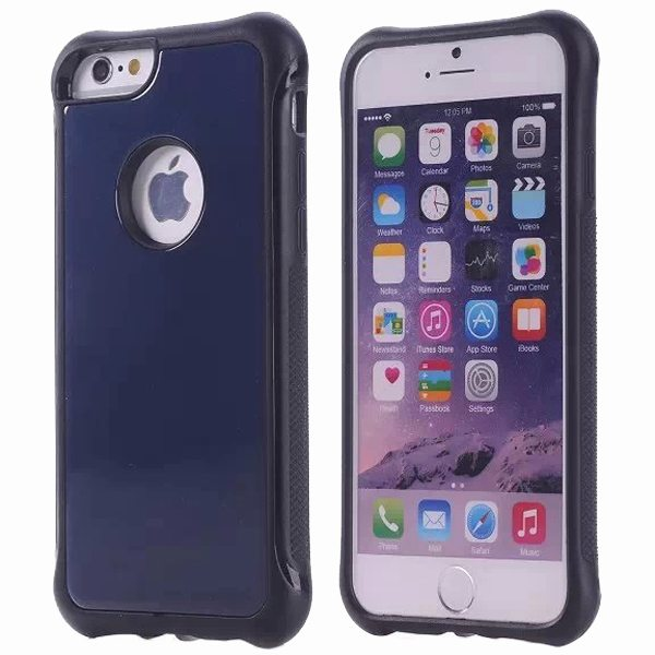 Armor Design Ultrathin TPE and PC Hard Hybrid Case for iPhone 6 (Dark Blue)
