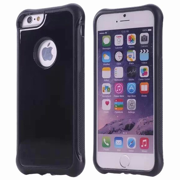 Armor Design Ultrathin TPE and PC Hard Hybrid Case for iPhone 6 (Black)