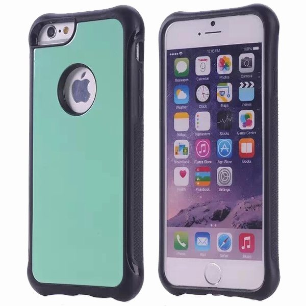 Armor Design Ultrathin TPE and PC Hard Hybrid Case for iPhone 6 (Green)