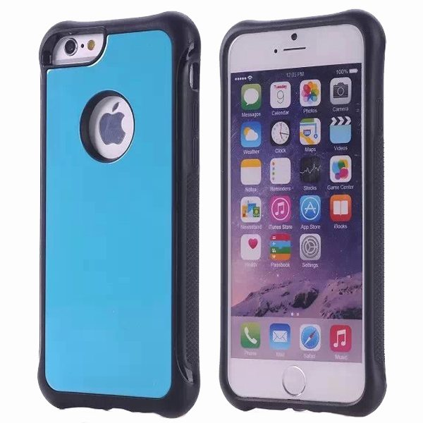 Armor Design Ultrathin TPE and PC Hard Hybrid Case for iPhone 6 (Light Blue)