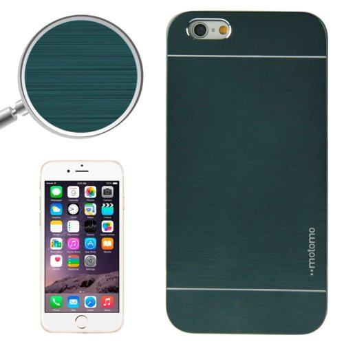 Brushed Texture Metal and Hard Hybrid Cover for iPhone 6 (Deep Green)