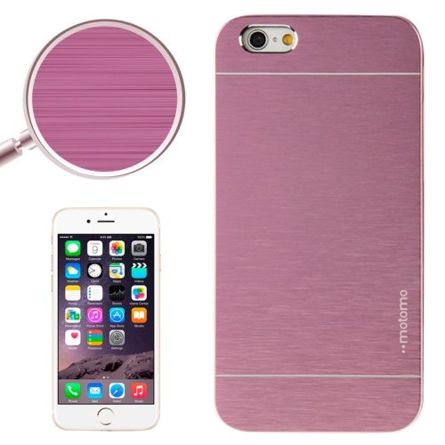 Brushed Texture Metal and Hard Hybrid Cover for iPhone 6 (Purple)