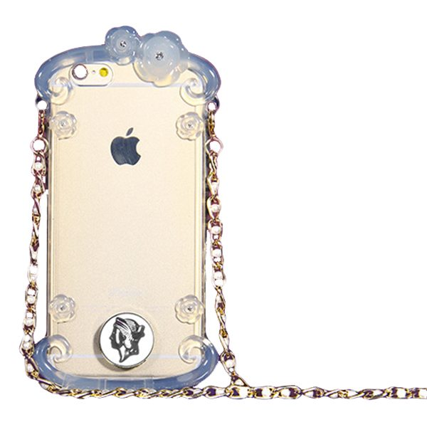 Perfume Bottle Pattern Protective Case for iPhone 6 with Chain(Blue)