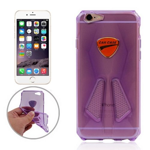 Racing Car Style Transparent Soft TPU Cover for iPhone 6 (Purple)