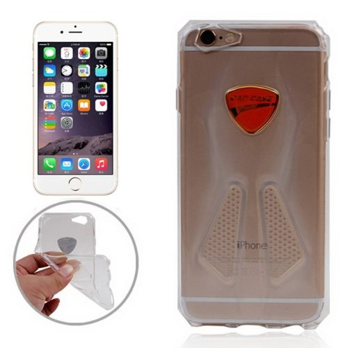 Racing Car Style Transparent Soft TPU Cover for iPhone 6 (Transparent)