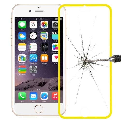 Link Dream Premium 0.33mm Tempered Glass Screen Protector with Holder for iPhone 6 (Yellow)