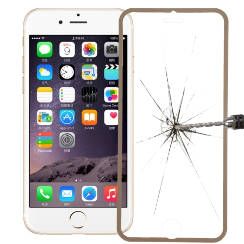Link Dream Premium 0.33mm Tempered Glass Screen Protector with Holder for iPhone 6 (Gold)
