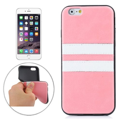 New Pattern Protective PU Leather Coated TPU Skin Case for iPhone 6 (Pink)