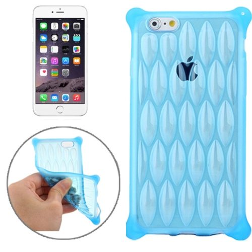 New Arrival Transparent Net-shaped Pattern TPU Protective Case for iPhone 6 Plus (Blue)
