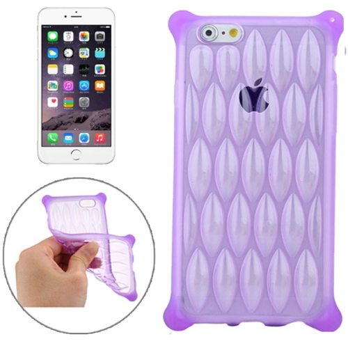 New Arrival Transparent Net-shaped Pattern TPU Protective Case for iPhone 6 Plus (Purple)