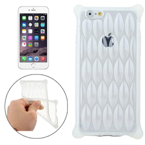 New Arrival Transparent Net-shaped Pattern TPU Protective Case for iPhone 6 Plus (White)