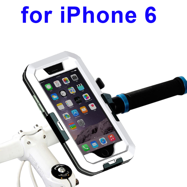 Newest Item Outdoor Sports Waterproof Case Bike Mount Holder for iPhone 6  (White)