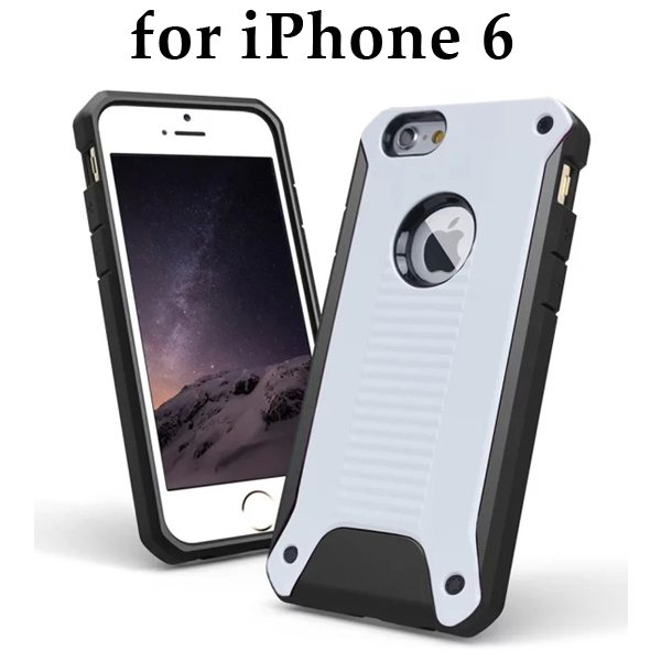 New Design TPU and Hard Plastic Shockproof Rugged Armor Hybrid Cover for iPhone 6 (White)
