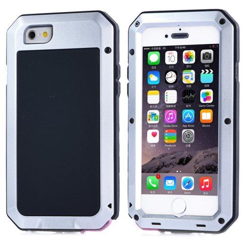 Protective Metal Armor Pattern Dustproof Shockproof Waterproof Case for iPhone 6 (Silver)