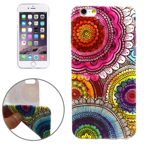 National Style Sunflowers Pattern Soft TPU Protective Case for iPhone 6